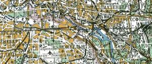 Soviet map of Berlin