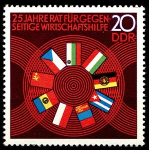East German stamp celebrating COMECON