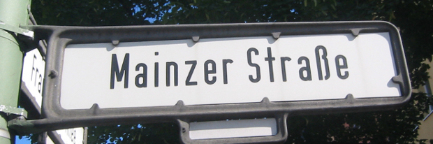 Street Sign from East Berlin