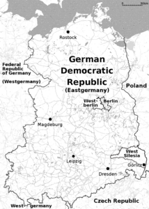 Map of East Germany