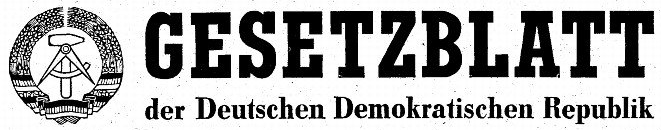 Header from the government gazette of the GDR