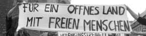 Demonstration for an open country and free people 1989