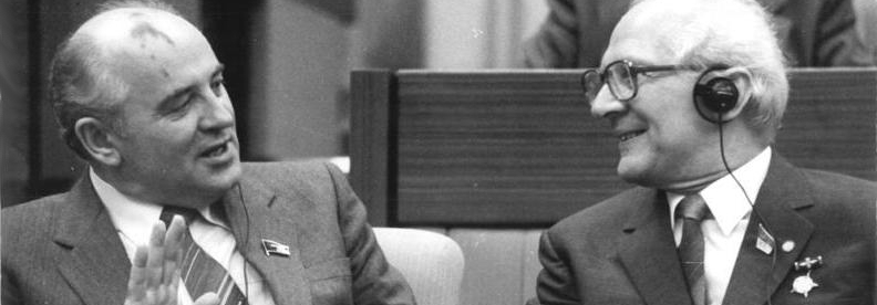 Gorbachev and Honecker in conference