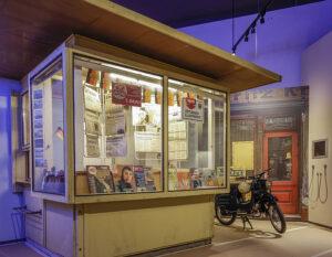 Old newspaper kiosk