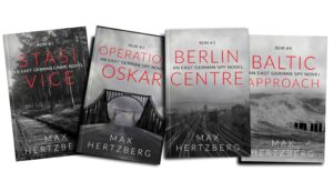 Covers of the first four books in the Reim series