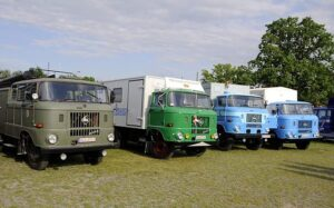 Various models of the IFA W50 truck