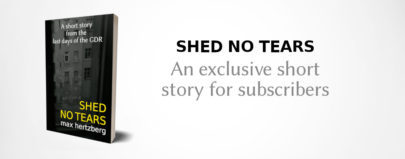 Shed No Tears - an exclusive short story for subscribers